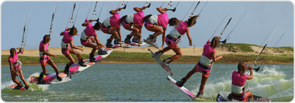 indy pop to blind kiteboarding